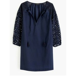 NWOT J. Crew cutout embroidery lace peasant